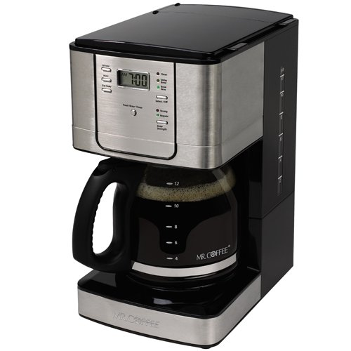 Mr. Coffee JWX31 12-Cup Programmable Coffeemaker, Stainless Steel