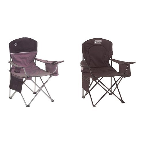 Coleman 2000003082 Cooler Quad Chair Gray/Black and Coleman Oversized Quad Chair with Cooler Bundle (Coleman Cooler Storage compare prices)