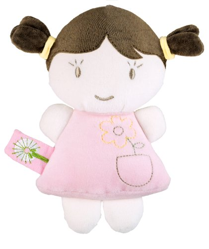 41cMQCCglEL Dandelion Organic Baby Doll Rattle, Brunette