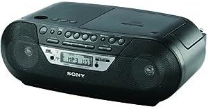 Sony ZSRS09CPB Radiorekorder (MP3/CD-Player, USB, Fernbedienung) schwarz