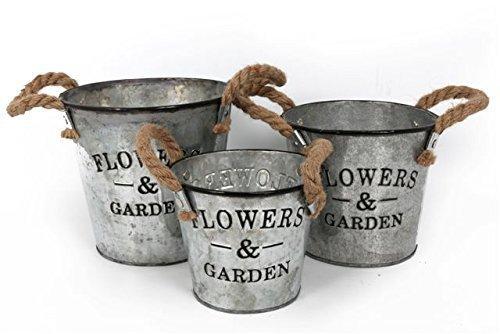 fleurs-vintage-lot-de-3-pots-de-fleurs-de-jardin-en-metal-galvanise-avec-poignees-en-corde