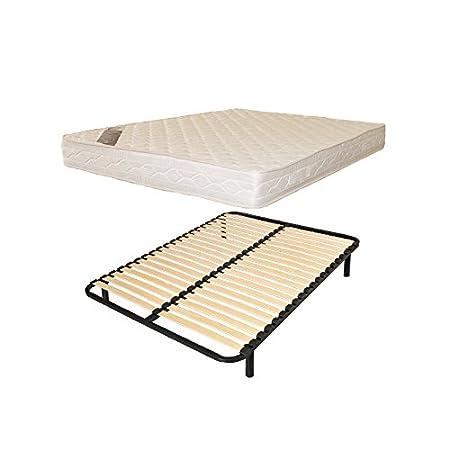 Letto 1persone 140X 190rete doghe + materasso comfort