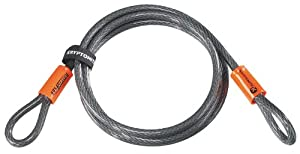 "Kryptonite 720018210610 KryptoFlex 3/8"" x 7' 1007 Double Loop Security Cable"