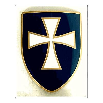 Armor Venue - White Cross Shield - Blue One Size