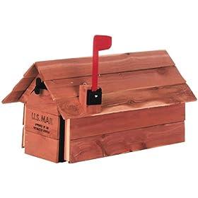 Solar Group CC2R0000 Cedar Wrap Mailbox
