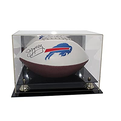Jim Kelly Autographed Buffalo Bills White Panel Football - Includes Display Case - JSA Certified Authentic