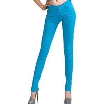 Hee Grand Jeans Slim Femme FR 38(CN S) Ciel Bleu