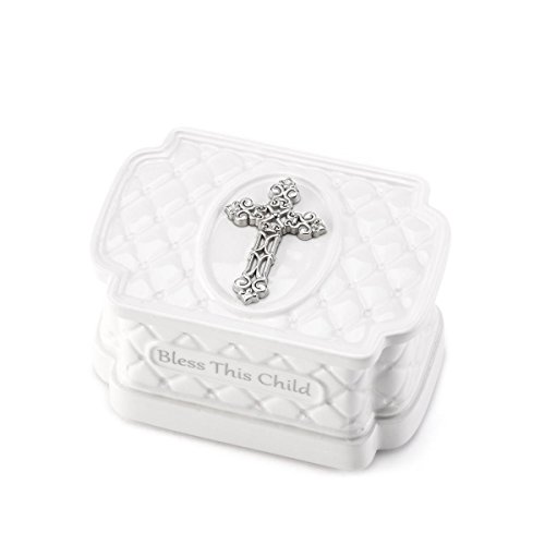 DEMDACO Keepsake Box with Rosary Beads, Bless This Child - 1