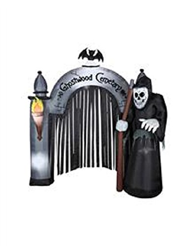 Halloween Decoration Lawn Yard Inflatable Airblown Reaper Cemetery Archway 8' Tall front-305917