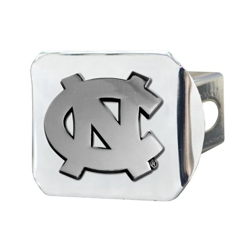 FANMATS NCAA UNC University of North Carolina - Chapel Hill Tar Heels Chrome Hitch Cover (Unc Tow Hitch Cover compare prices)