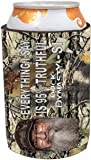 Duck Dynasty Officially Licensed Beer Can Cooler Koozie - Several Styles Available - Uncle Si Phil (Camo - Everything I Say is 95% Truthful - Uncle Si)