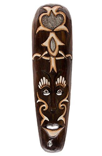50 Cm sTATUE tRIBAL wOODEN mASK aFRICAN décoration masque en forme de pendentif style africain motif hM5000021