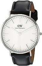 Comprar Daniel Wellington - Reloj analógico para caballero,correa de cuero negro, dial blanco