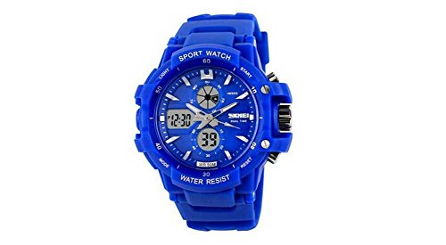 Blue Watches For Kids Girls Digital 2 Time Zone Watches Kids Boys