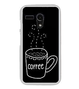 Coffee Clipart 2D Hard Polycarbonate Designer Back Case Cover for Motorola Moto G :: Motorola Moto G (1St Gen)