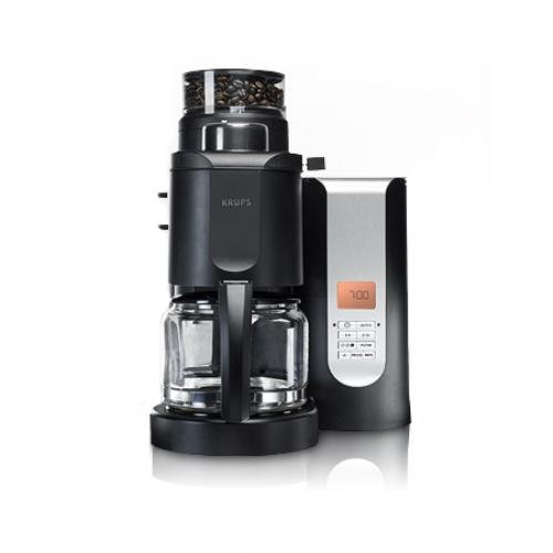 KRUPS KM700552 Grind and Brew Coffee Maker with Stainless Steel Conical Burr Grinder, 10-cup ...