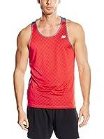 ZZZ-New Balance Camiseta Tirantes (Rojo / Negro)