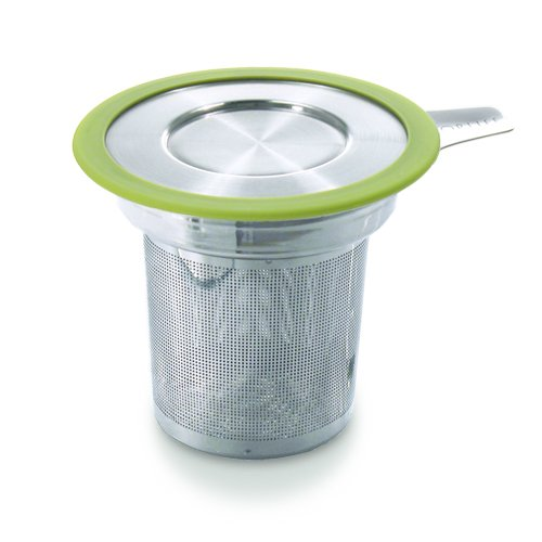 Sale!! Brew-in-Mug Extra-Fine Tea Infuser with Lid, Lime