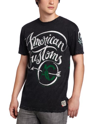 Affliction - Mens Zed T-Shirt In Blk Crinkle Lava, Size: X-Large, Color: Blk Crinkle Lava