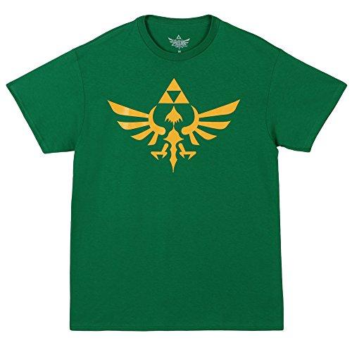 The Legend Of Zelda Triumphant Triforce Shirt - Green (Large)