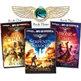 The Kane Chronicles (3 Audiobook Set): The Red Pyramid, The Throne of Fire, The Serpents Shadow [The Kane Chronicles] by Rick Riordan [Audiobook, MP3 Audio, Unabridged]