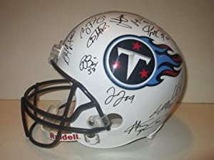 2013 Tennessee Titans Team Autographed Signed Riddell Full Size Football Helmet with... by Southwestconnection-Memorabilia