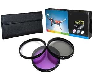 PLR Optics 52MM High Resolution 3-piece Filter Set (UV, Fluorescent, Polarizer) For The Nikon D5300, D5000, D3000, D3200, D3300, D5100, D5200, D3100, D7000, D7100, D4, D4S, D800, D800E, D810, D750, D600, D610, D40, D40x, D50, D60, D70, D80, D90, D100, D200, D300, D3, D3S, D700, Digital SLR Cameras Which Have Any Of These (18-55mm, 55-200mm, 50mm) Nikon Lenses