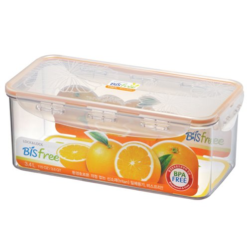 Lock & Lock Bisfree Airtight Rectangular Stackable Deep Container 3.4 L front-96599
