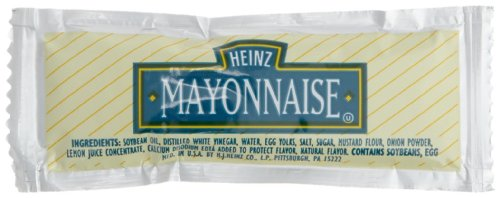 Heinz Mayonnaise, 0.42-Ounce Single Serve Packages (Pack of 200)