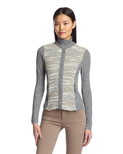 Lola & Sophie Women's Bubble Knit Sweater Jacket