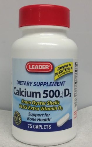 Leader Calcium 500Mg + D3 75 Caplets (Pack Of 5)
