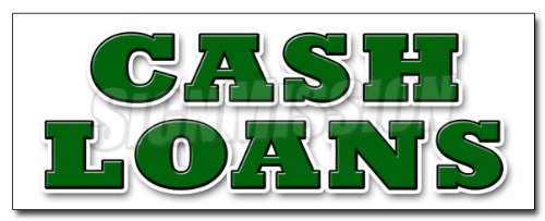 """12"""" CASH LOANS DECAL sticker payday advance title pawn shop for gold"""