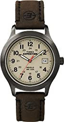 Timex Expedition Metal Field Beige Dial Brown Leather Strap Mens Watch T49955