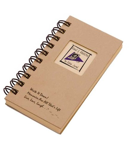 Email & Websites, An Online Journal - MINI Kraft Hard Cover (prompts on every page, recycled paper, read more...)