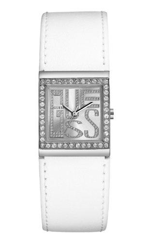Guess Guess Trend W75023L2 - Reloj analógico de mujer de cuarzo con correa de piel blanca - sumergible a 30 metros
