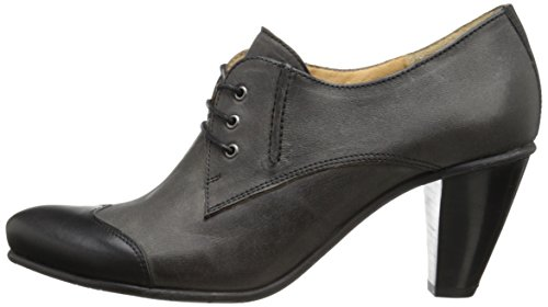pictures of Fidji Women's L868 Oxford, Calf Black/Grey, 40.5 EU/10.5 M US