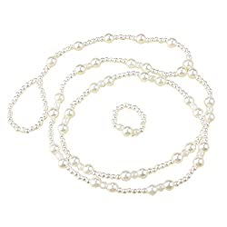 Pretty Pearl Single Anklet Payal Beach with Pearl Toe RingALAN0044WH