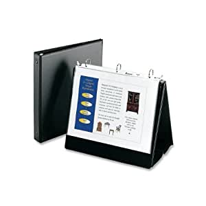 Avery Easel Presentation Binder with Round Ring, Black Vinyl (12880)
