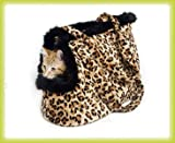 Pet Carrier Dog or Cat Leopard Print soft and cozy
