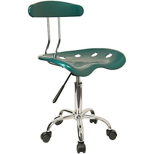 Vibrant Green and Chrome Computer Task Chair with Tractor Seat [LF-214-GREEN-GG] electronic consumers