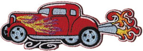 Application Car Culture Red Hot Rod with Flames Patch
