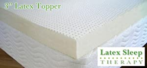 Latex Mattress Pad Topper Talalay Twin 3 in Medium Firm (We Carry All Sizes)