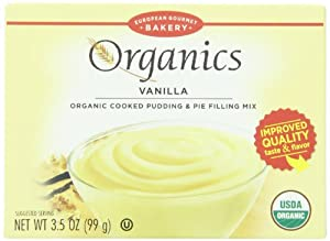 Dr. Oetker Organic Pudding Mix, Vanilla, 3.5-Ounce (Pack of 12)