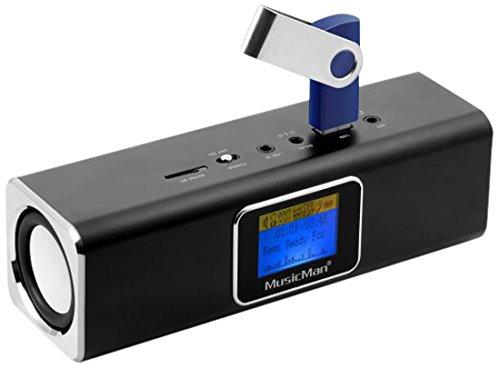 Musicman-MA-Soundstation-Stereo-Lautsprecher-mit-intergriertem-Akku-und-LCD-Display-MP3-Player-Radio-MicroSD-KartenslotUSB-Steckplatz-schwarz