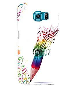 PRINTVISA Abstract Music Art Case Cover for Samsung Galaxy S6
