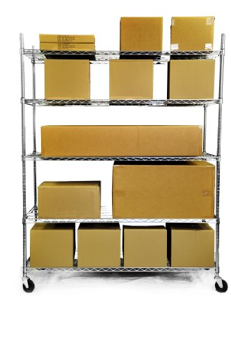 cheap trinity 5 tier 60 x24 x72 heavy duty xl chrome. Black Bedroom Furniture Sets. Home Design Ideas
