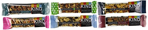 Kind Bar Nuts & Spices, Fruit & Nuts Super Variety- (12-PACK)-(2 of Each Flavor 1.4 Oz) (Kind Bars Yogurt And Apricot compare prices)