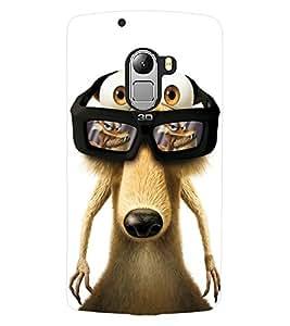 ColourCraft Funny Squirrel Design Back Case Cover for LENOVO A7010