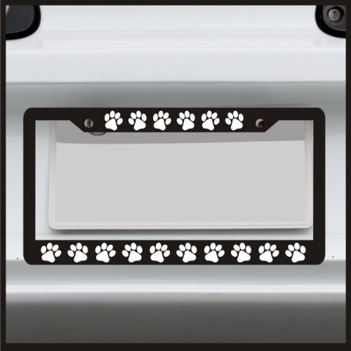 Puppy Paw Print - License Plate Frame - Frame for car / truck / funny (Lab License Plate Frame compare prices)