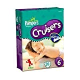 Pampers Cruisers Jumbo Diapers, Size 6, 20-Count (Pack of 4)